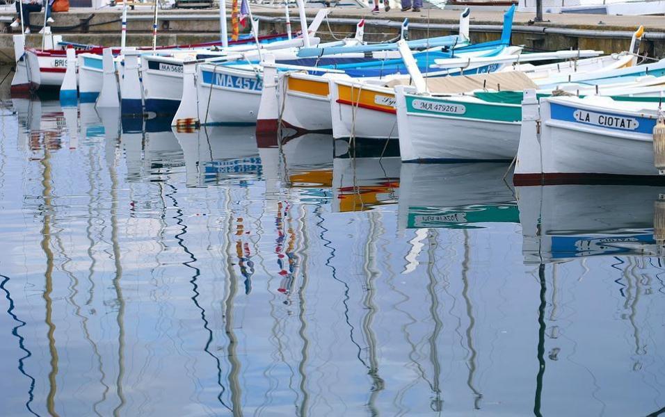 Bateaux de pêche dans le Port vieux de la Ciotat