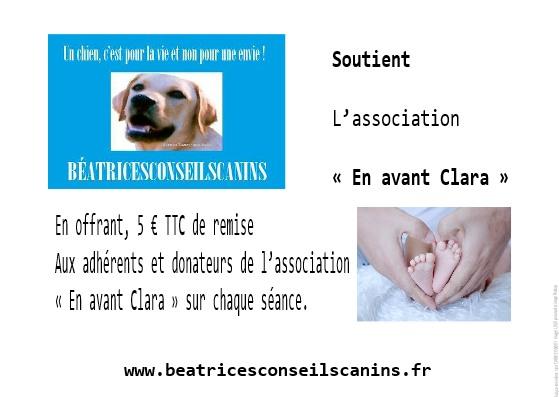 "Je soutiens l'association ""En avant Clara"""